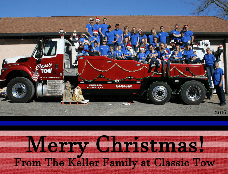 Classic Tow Christmas Card image